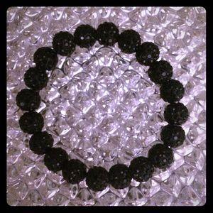 Jewelry - Black Beaded Sparkly Bracelet